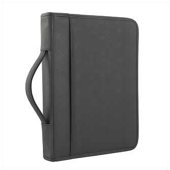 """Папка """"Секретарь"""" из кожзаменителя, с ручкой, на молнии, черная"""