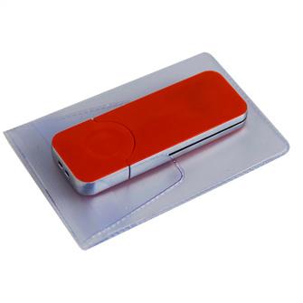 """USB-Flash накопитель (флешка) """"BIG"""",  4 Gb, с красной подсветкой. Красный"""
