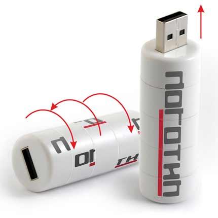 """USB-Flash накопитель-головоломка (флешка) """"PROOF"""",  4 Gb. Пластиковый корпус. Белый"""