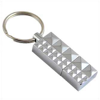 "USB-Flash накопитель (флешка) ""Replica"" металлический с кольцом для ключей, 32 Gb"