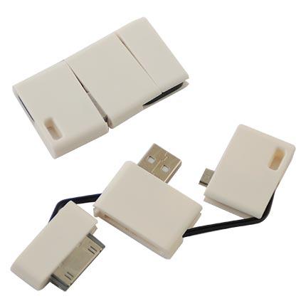 """Многофункциональный переходник с разъемами для IPad, USB, micro-HDMI """"Type D"""". Цвет корпусов белый"""