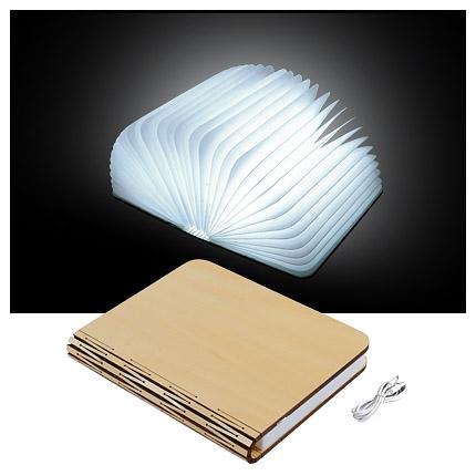 """Книга лампа """"Book lamp"""", деревянная обложка"""
