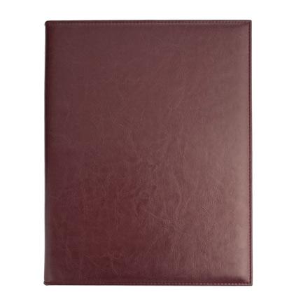 Папка для меню (бренд Адъютант), материал Nebraska, размер 33,0x24,5x2,5 см, цвет бордовый
