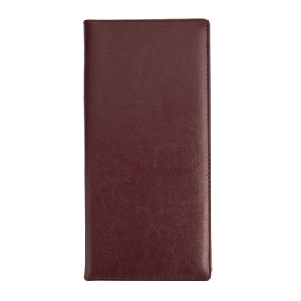 Папка для счета (бренд Адъютант), материал Nebraska, размер 10,5х23x1 см, цвет бордовый