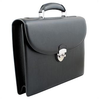 Портфель односекционный Neri Karra, черный. Корпоративная коллекция