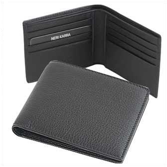 Бумажник мужской Neri Karra, черный. Корпоративная коллекция