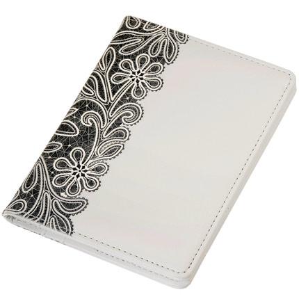Обложка для документов, Portobello Trend, коллекция Russia, размер 105х142 мм, цвет белый с чёрным