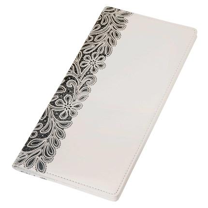 Тревеллер, Portobello Trend, коллекция Russia, размер 120x240 мм, с отделенияи для документов и кредитных карт, цвет белый с чёрным