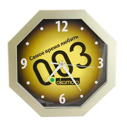 Часы настенные пластиковые, модель 04, размеры 290х290 мм, стекло минеральное, кольцо пластик