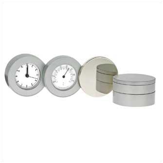 """Часы """"Orion I c термометром"""" (хромированные)"""