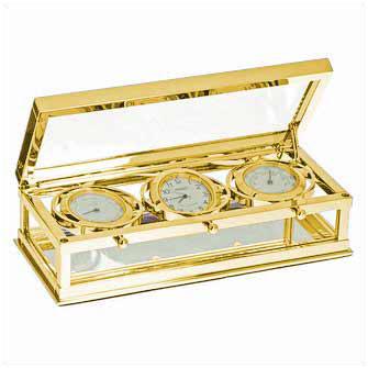 "Часы-метеостанция ""Triset II"" gold"