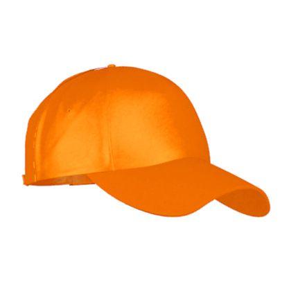 Детская бейсболка пять клиньев модель Classic Junior (10J), застежка - липучка, цвет оранжевый