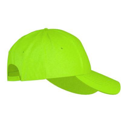 Детская бейсболка пять клиньев модель Classic Junior (10J), застежка - липучка, цвет ярко-зелёный