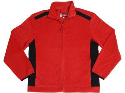 """Флисовая куртка """"Alabama"""", цвет красный-черный, размер L"""