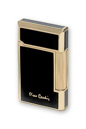 """Зажигалка """"Pierre Cardin"""" газовая кремниевая, цвет черный лак с золотом"""