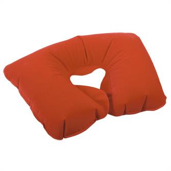 Подушка надувная под голову в чехле, красная
